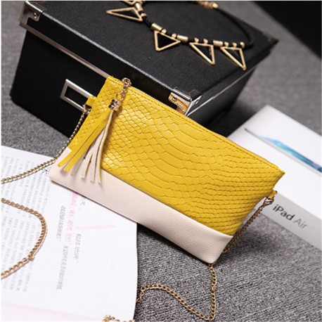 shoulder Purse Pu Leather Yellow