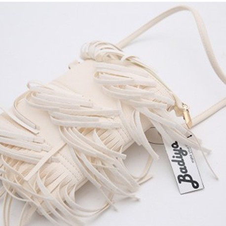 White Fringe Tassel