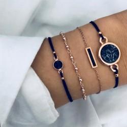 Set Zwart Luxe Marmer Armband